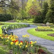 Stock Photo: Springtime Public Garden