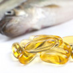 Fish Oil Capsules — Stock Photo