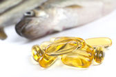 Fish Oil Capsules — Stock Photo