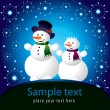 Christmas card with snowman — Stock Vector