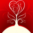 Decorative Valentine card - Stock Vector