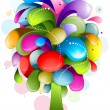 Abstract Rainbow Tree - Stock Vector