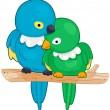 Lovebirds — Stock Vector