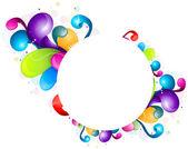 Desenho abstrato arco-íris — Vetorial Stock