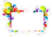 Rainbow Swirl Frame — Stock Vector