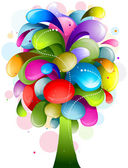 Abstract Rainbow Tree — Stock Vector