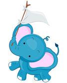 Cute Elephant — Stock Vector