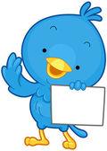 Kuş mesaj — Stok Vektör