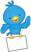 Bird Message — Stock Vector