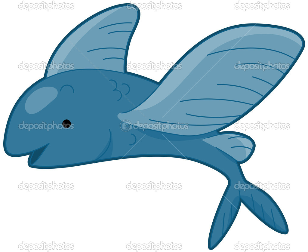 Flying Fish Clip Art Flying fish - stock vector