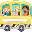 Children in School Bus — 图库照片
