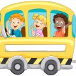 Children in School Bus — Stock Photo