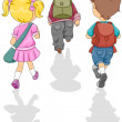 Walking to School — Stock Photo #3953864