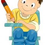 Child Writing — Stock Photo