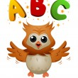 ABC Owl — Stock Photo