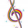 Rainbow Music — Stock Photo #3953994