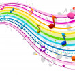 Stock Photo: Rainbow Music Wave