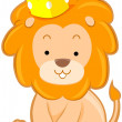 Cute Lion with Crown — Stock Photo