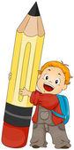 Boy holding Pencil — Stock Photo
