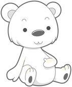 Cute Polar Bear — Stock Photo