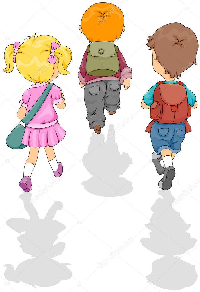 走路上学 — 图库照片08lenmdp#3953864