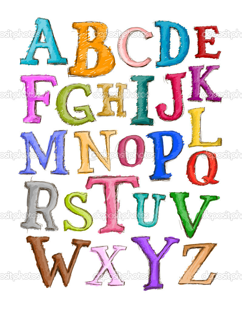 Alphabet Sketch with Clipping Path  Stock Photo #3954007