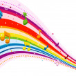 Stock Photo: Rainbow Music