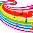 Rainbow Music — Stock Photo