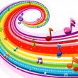 Rainbow Music — Stock Photo #4009755