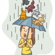 Stock Photo: Raining Cats and Dogs