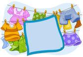 Marco de lavandería — Foto de Stock
