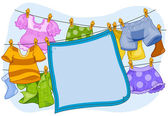 Laundry Frame — Foto de Stock