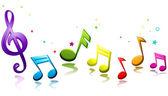Arcobaleno musica — Foto Stock