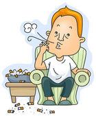 Chain Smoker — Stock Photo