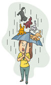 Raining Cats and Dogs — Stock Photo