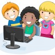 Computer Kids — Stock Photo #4010044