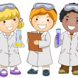 Lab Kids — Stock Photo