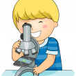 Royalty-Free Stock Photo: Microscope Kid