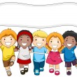 Kids Banner — Stock Photo