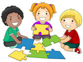 Puzzle Kids — Stock Photo