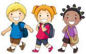 Andare a scuola — Foto Stock