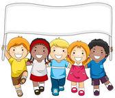 Bannière d'enfants — Photo