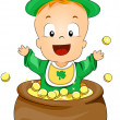 St Patrick Baby - Stock Photo