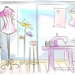 Stock Photo: Dressmaking Room