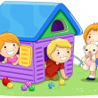 Playing House — Stock Photo