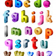 Isometric Alphabet - Stock Photo