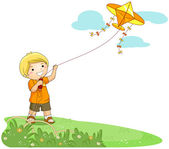 Flying a Kite — Foto Stock