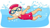 Boy swimming — Stock Photo