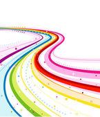 Diseño abstracto del arco iris — Foto de Stock