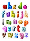 Isometric Alphabet — Stock Photo